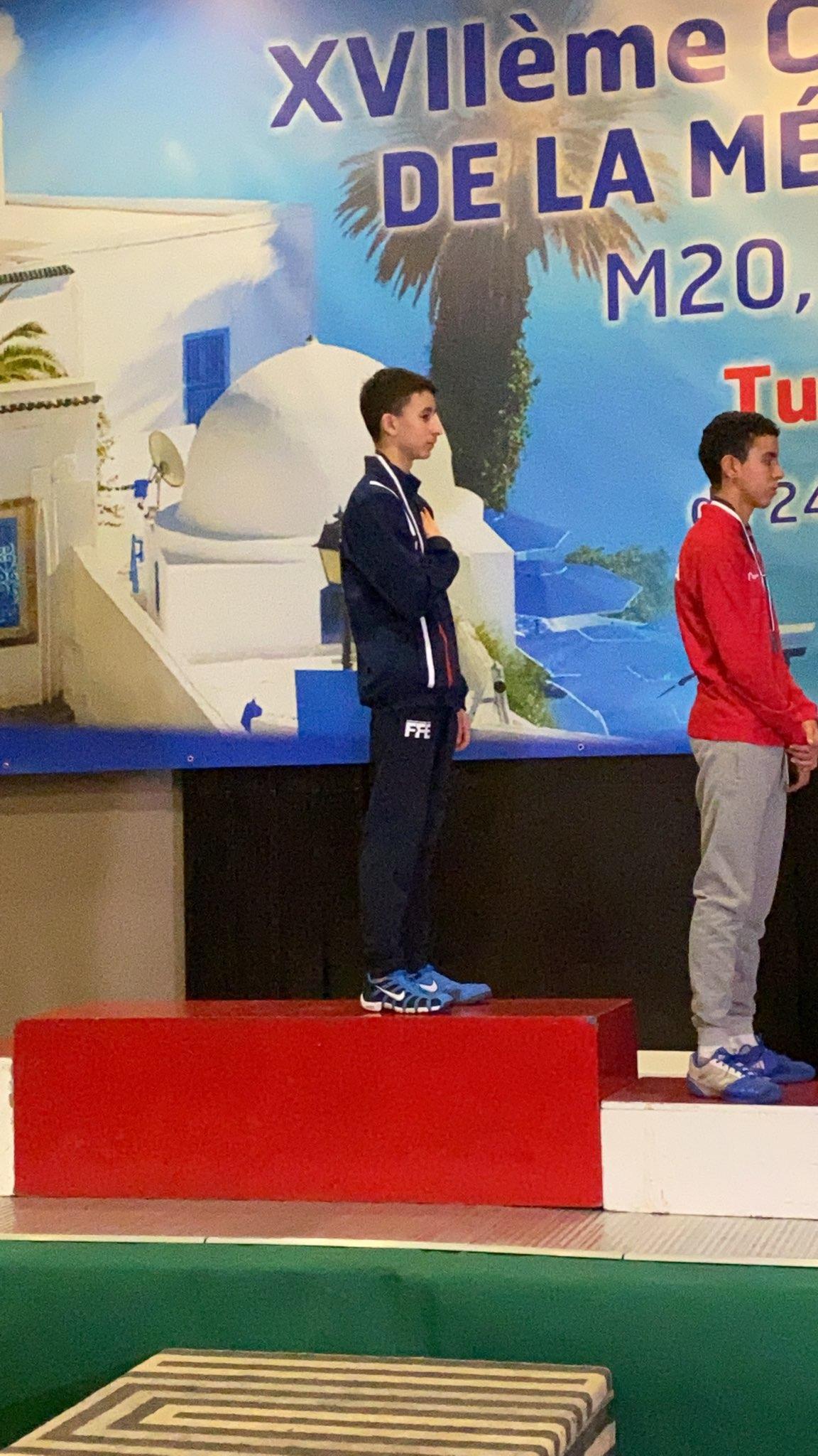 Championnats M15 à Tunis 25 janvier 2020 vainqueur HUGO VALIERE