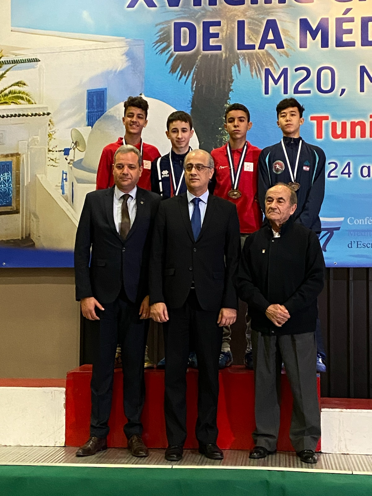 PODIUM Hugo VALIERE Vainqueur Championnats M15 à Tunis