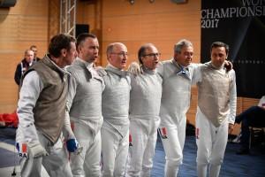 l'équipe de France Fleuret aux Mondiaux 2017