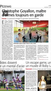 Maitre GOYALLON - Article Midi Libre avr 2019